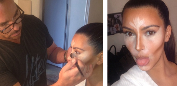 Kim Kardashian Contouring Highlighting