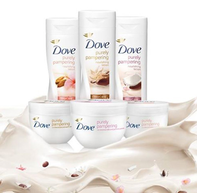 Dove Purely Pampering Body Lotion coconut milk and jasmine