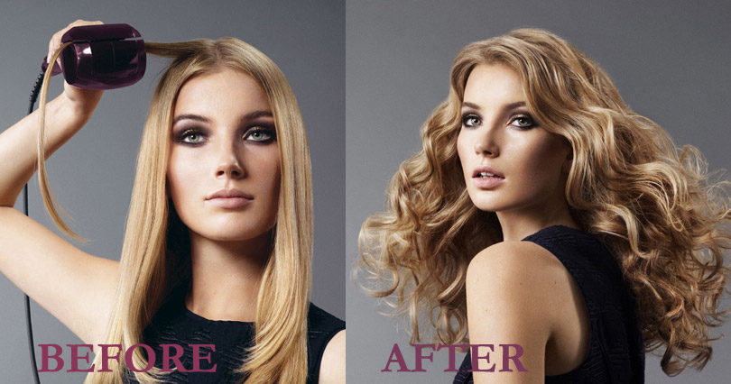 Babyliss / Conair Curl Secret Before & After
